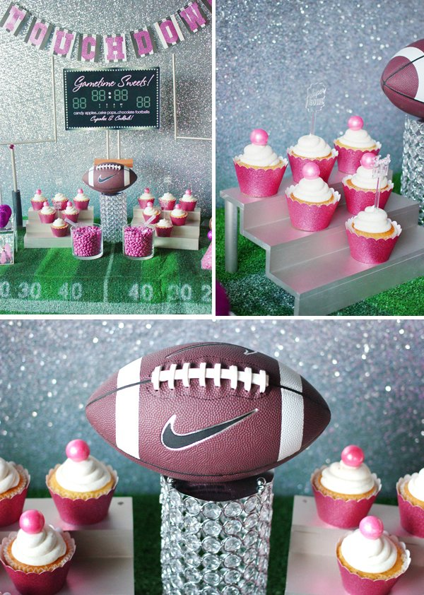 football-bling-cupcakes