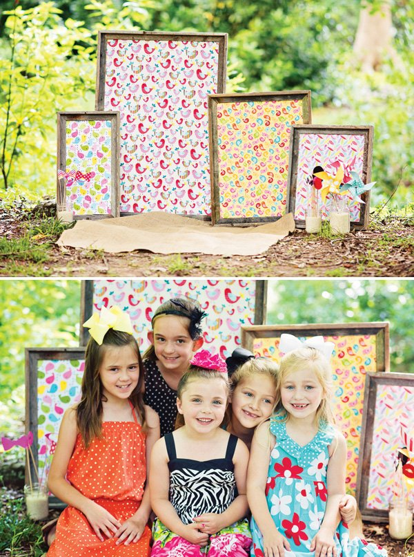 framed fabric photo booth backdrop