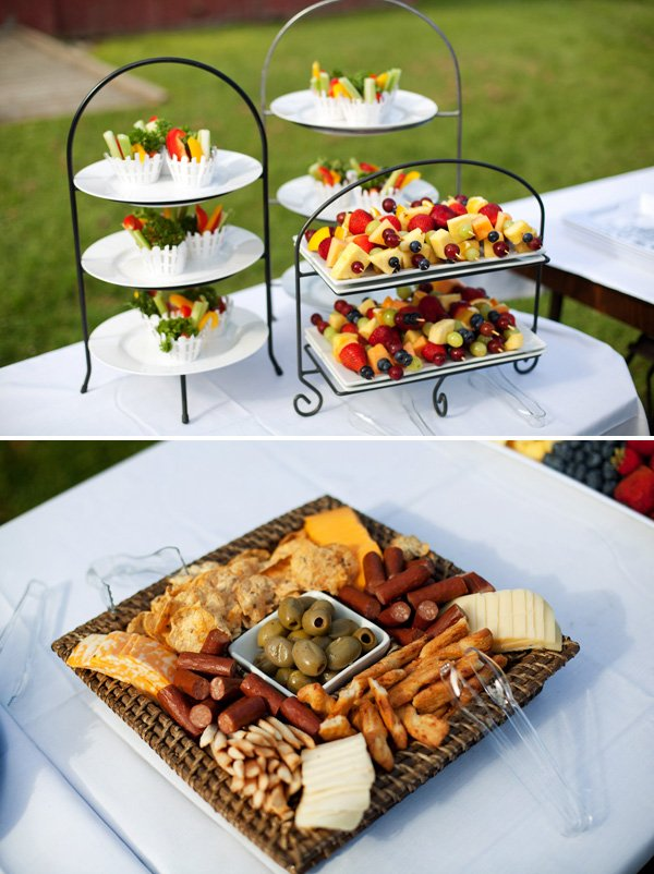 garden party food and appetizers