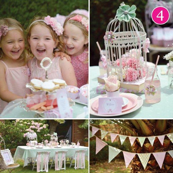 little girls garden tea party