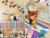 brightly colored geometric brunch