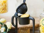 cast iron lemonade press for homemade drinks for party guests