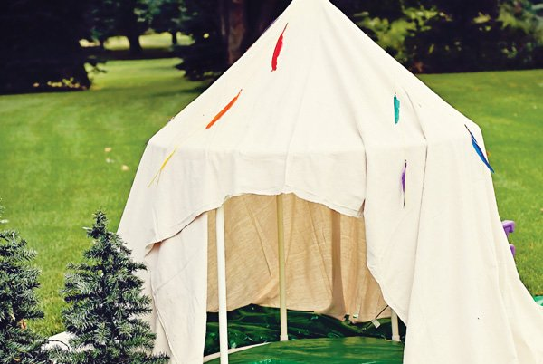 DIY indian tee pee