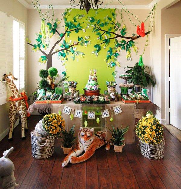 jungle safari themed boy's birthday party