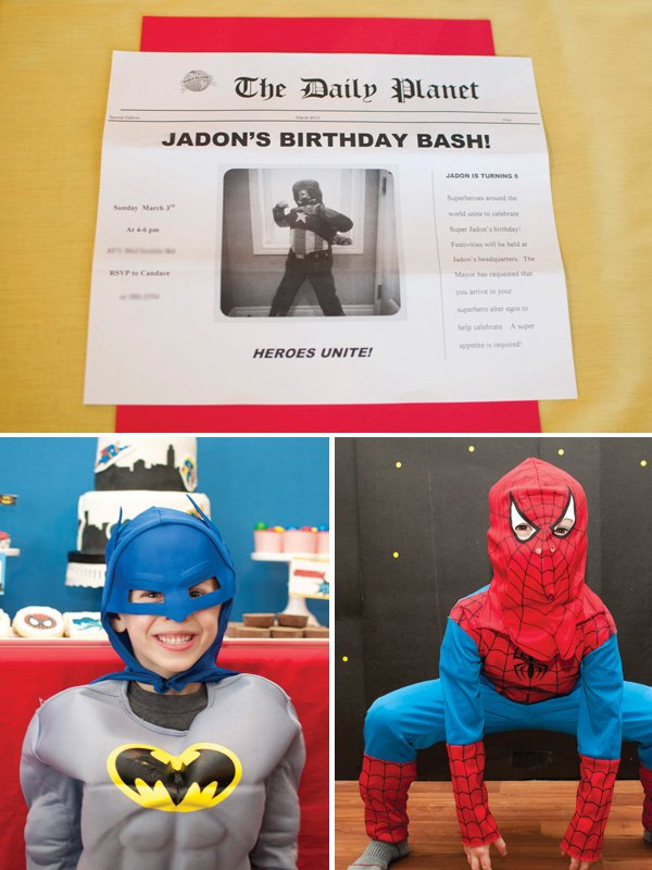 kids superhero party costumes
