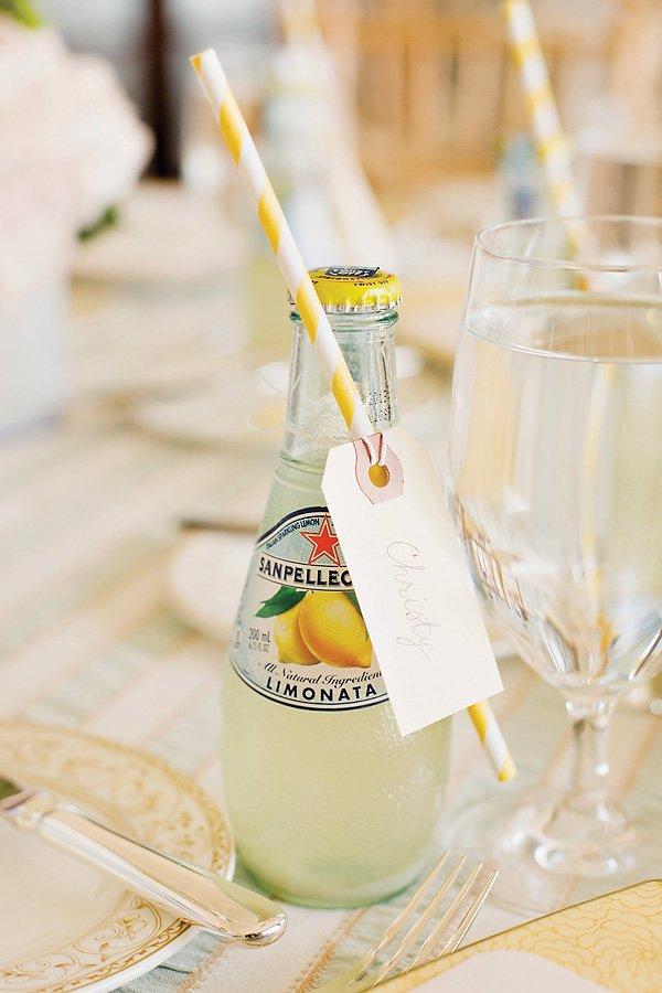 lemon san pellegrino party drinks