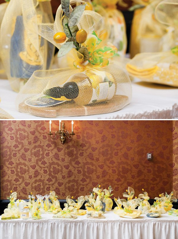 lemon and yellow themed silent auction