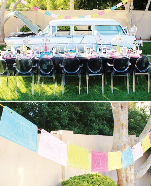 painted license plate garland