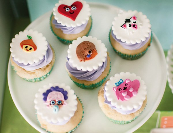 moshi monster topped cupcakes