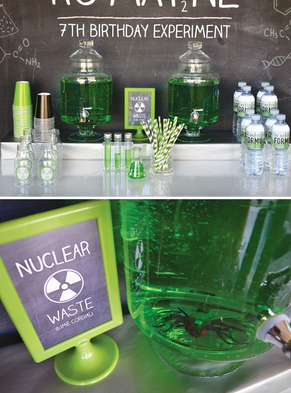 lime cordial nuclear waste for a science party