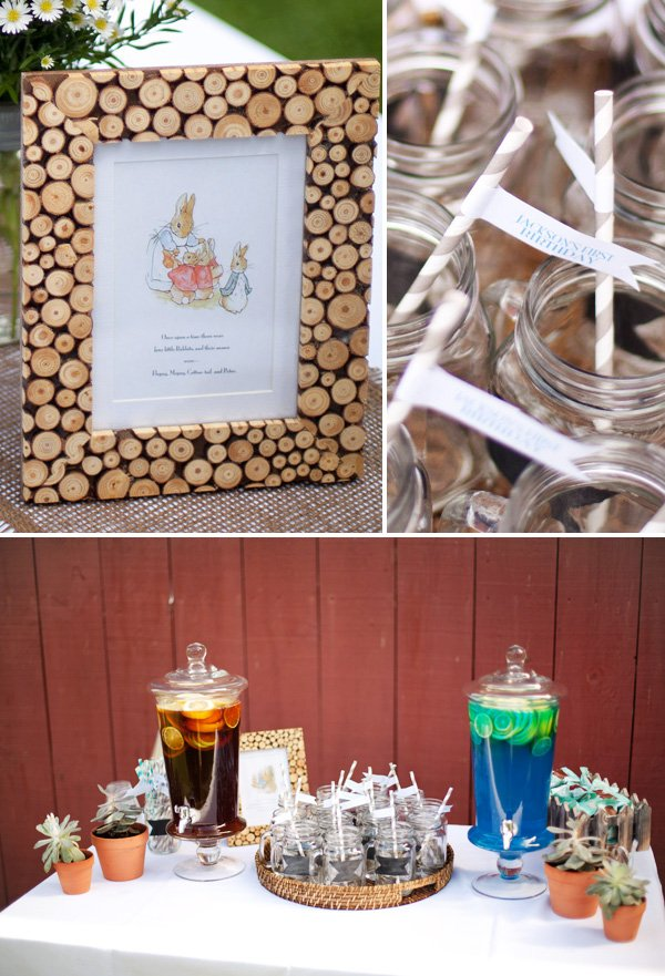 peter rabbit first birthday theme decorations