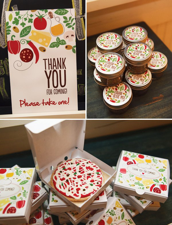 pizza cookie party favors
