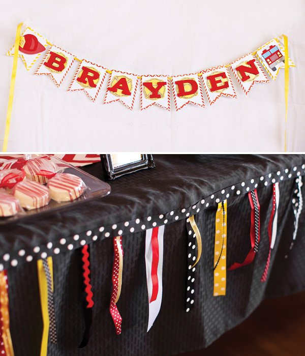 polka dot ribbon garland and bunting