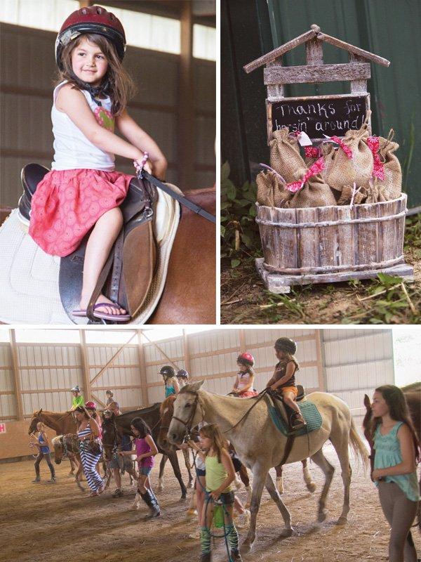 pony birthday party horseback riding