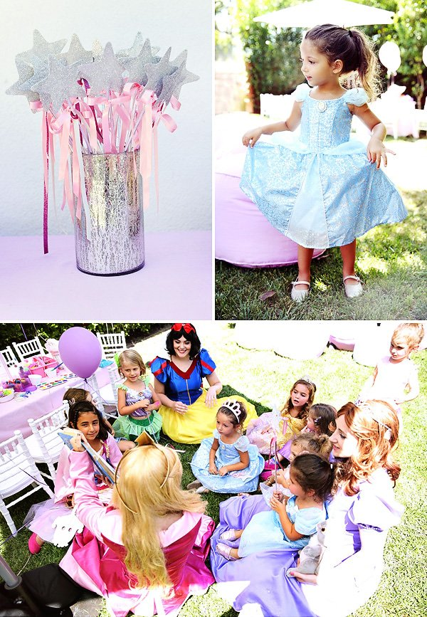 princess party ideas - wands, costumes, activities