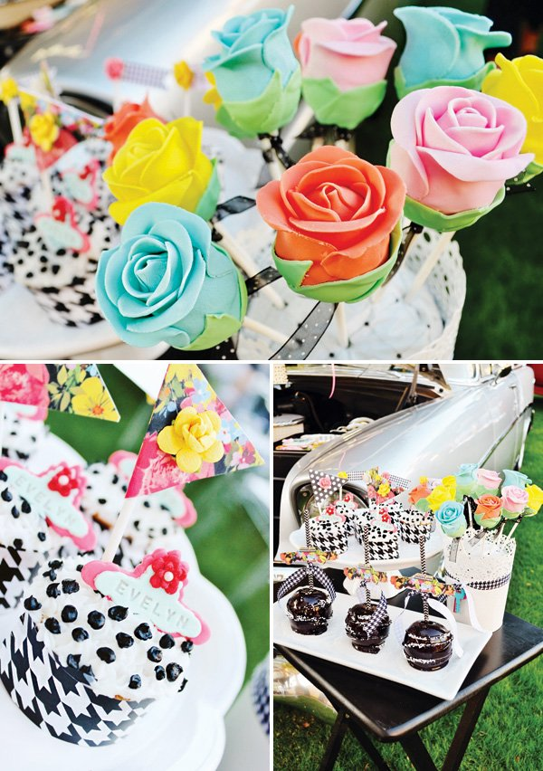 rose bud cake pops