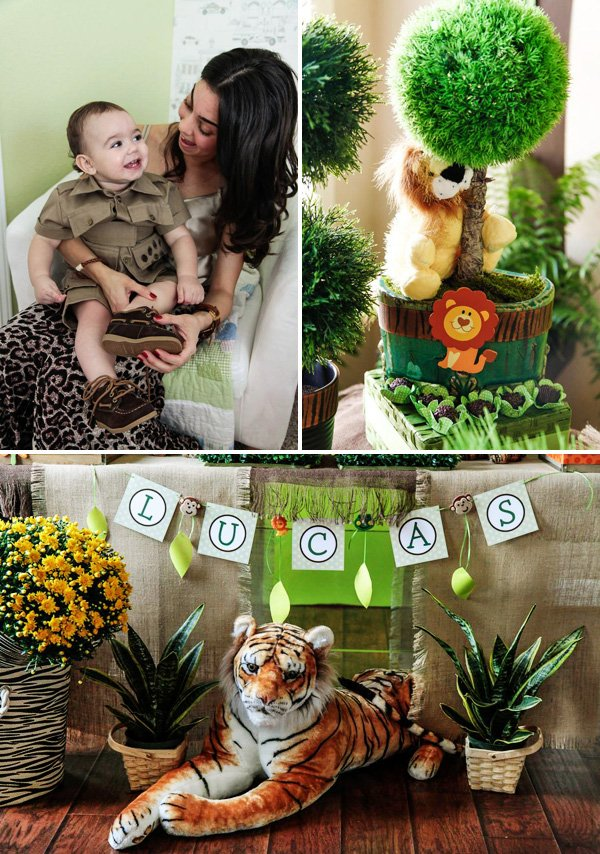 jungle safari themed birthday party ideas