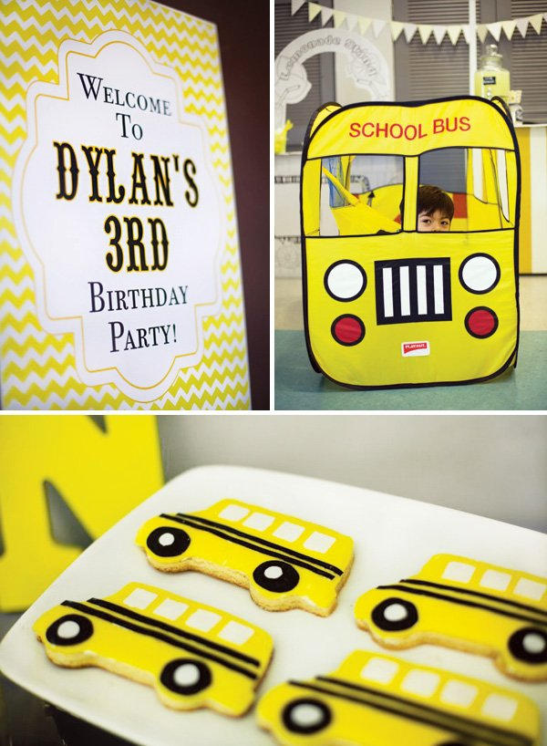 school bus birthday party theme