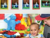 sesame street themed first birthday party