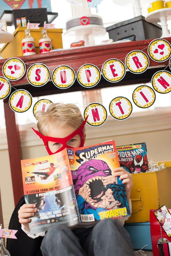 comic book valentine's day party