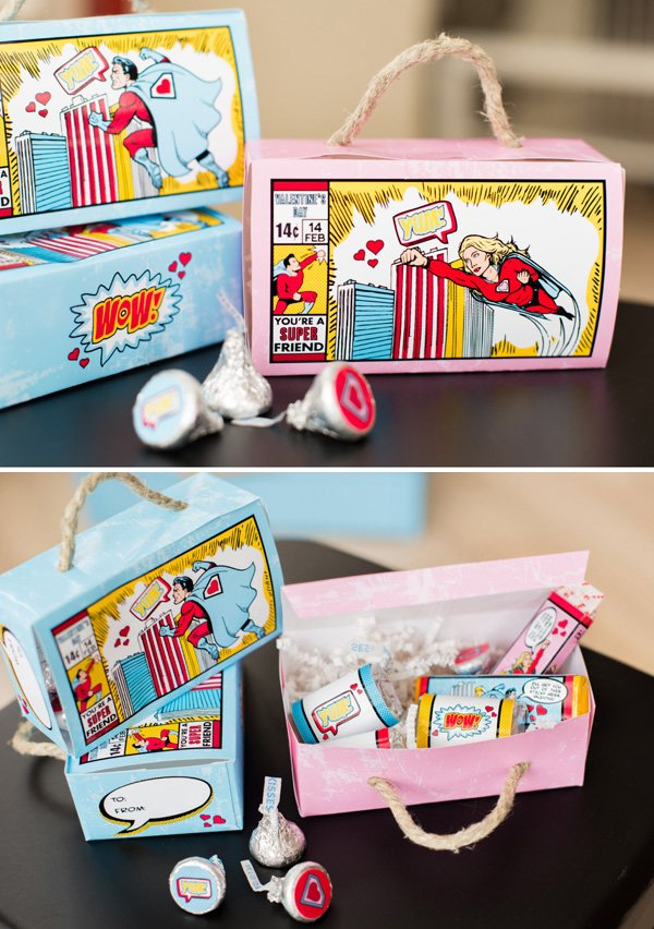 superhero valentines day lunchboxes