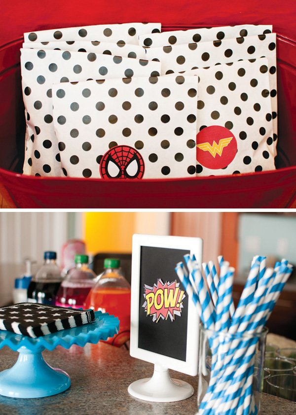 superhero party favors