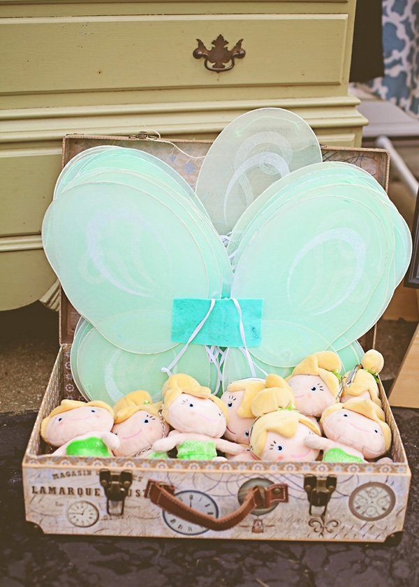 tinker bell wings and plush purses