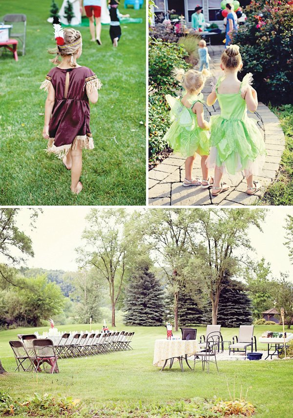 tinker bell and tiger lily costumes for a peter pan birthday party