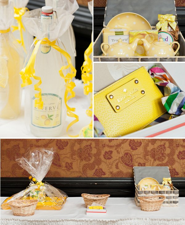 yellow bridal shower raffle prizes