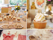 vintage spring time and doll themed baby shower