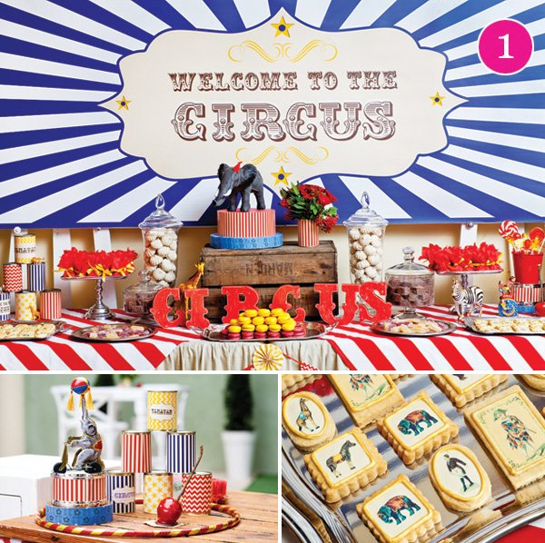 vintage circus baby shower party theme