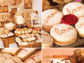 vintage love letters valentine's day dessert table
