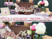 vintage pony party dessert table and horse cake pops