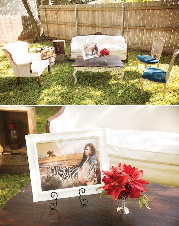 vintage furniture sitting area