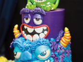 amazing monsters inc characters birthday cake