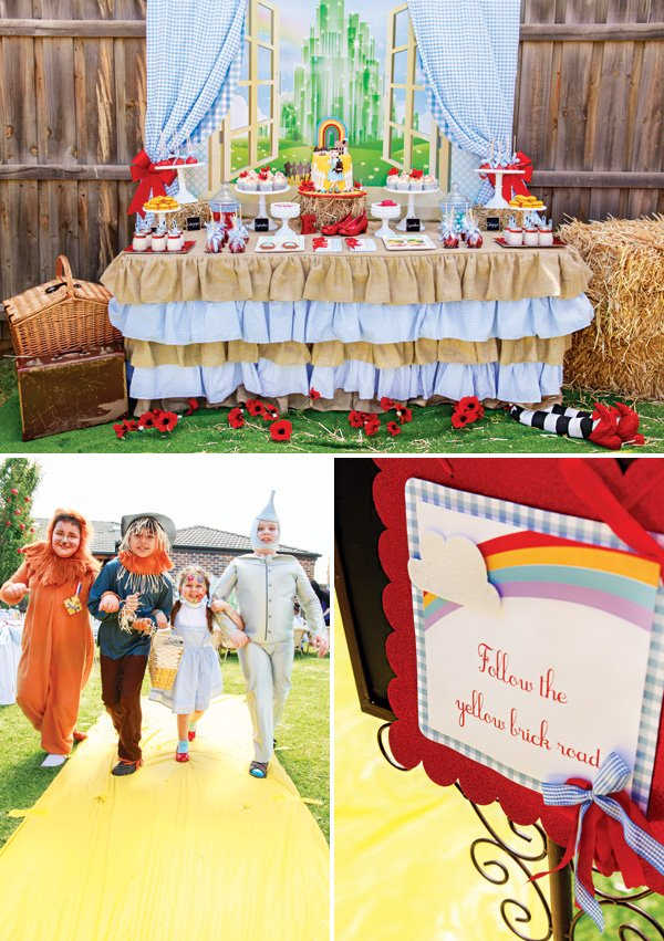 wizard of oz movie themed birthday party ideas