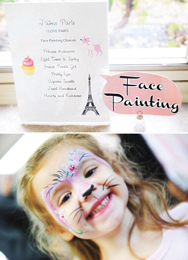 kids face painting party activity
