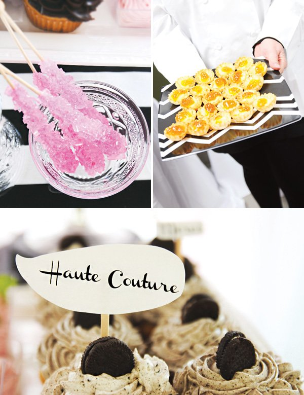haute couture cupcakes and party food