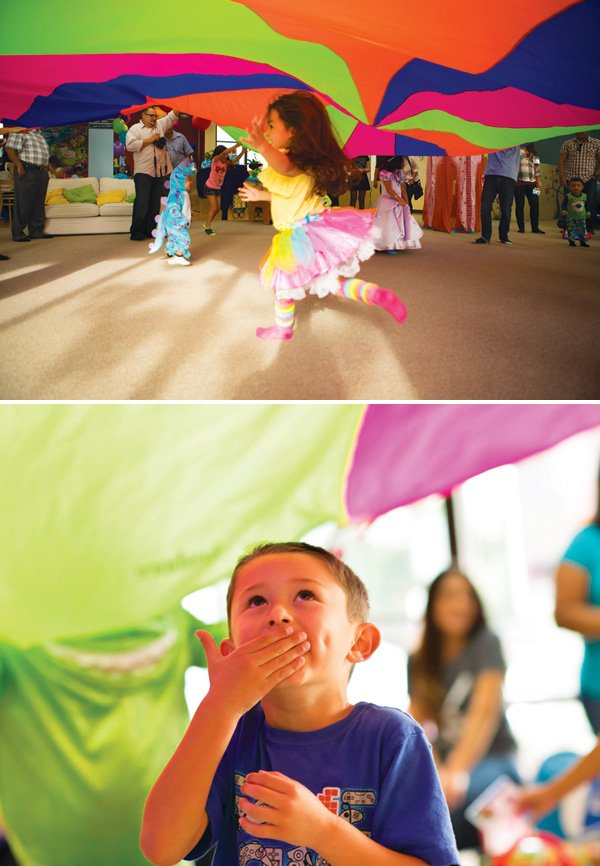 parachute kids birthday party activity or game
