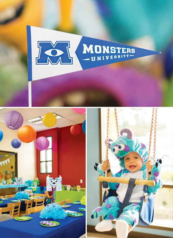 monsters university themed first birthday party ideas