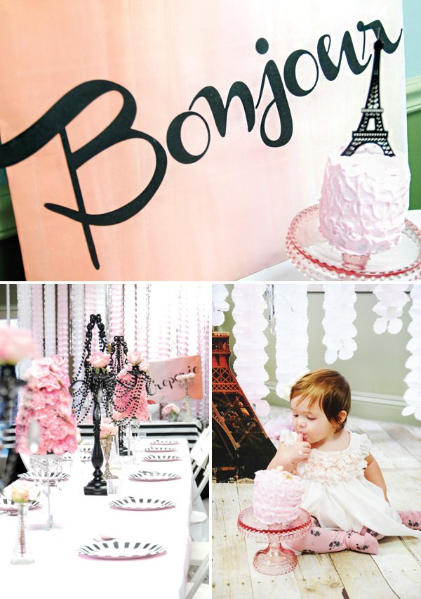 girly french first birthday party ideas