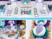 ocean and mermaid themed dessert table