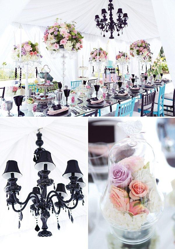 alice in wonderland whimsical table decor