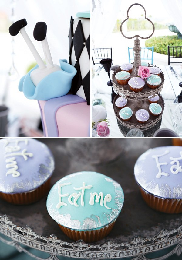eat me silver dusted cupcakes