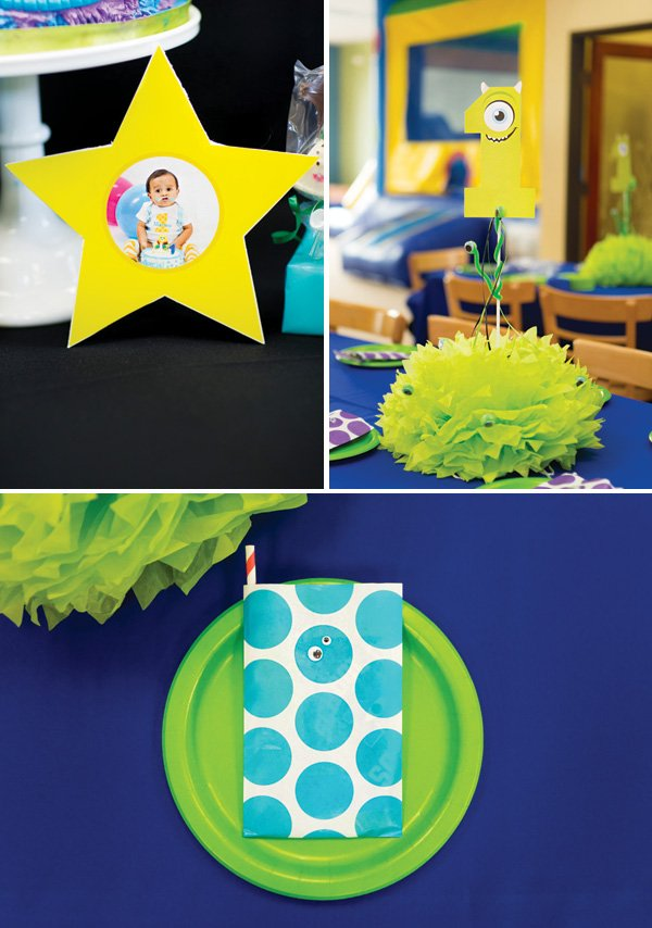 monsters inc decorated table and place settings