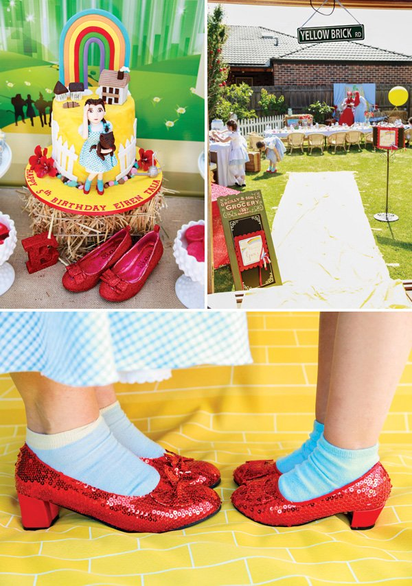 ruby red slippers for a oz party
