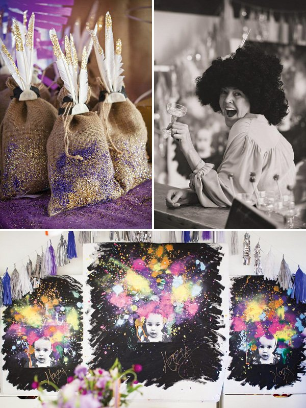 70s hippy afro themed first birthday party
