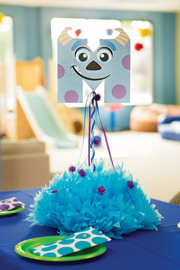 sully from monsters inc inspired table centerpieces and decor