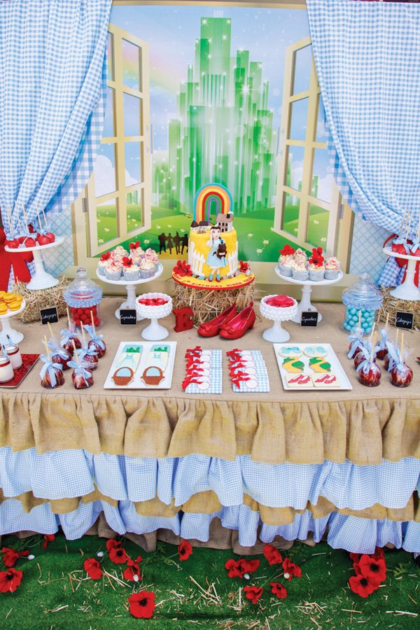 wizard of oz themed dessert table
