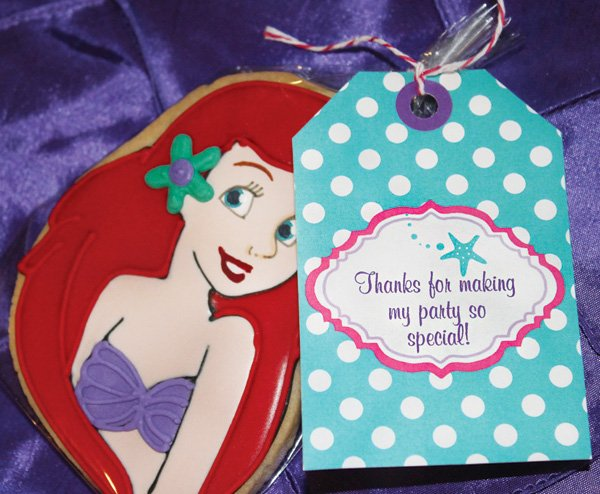 the little mermaid ariel party favor cookie